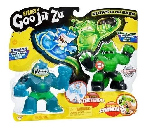 figuras flexibles heroes of goojit zu blisterx2 original