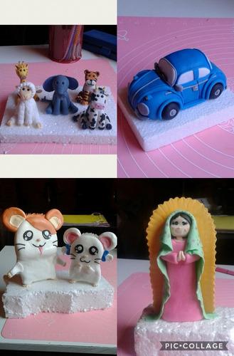 figuras fondant para adorno de tortas