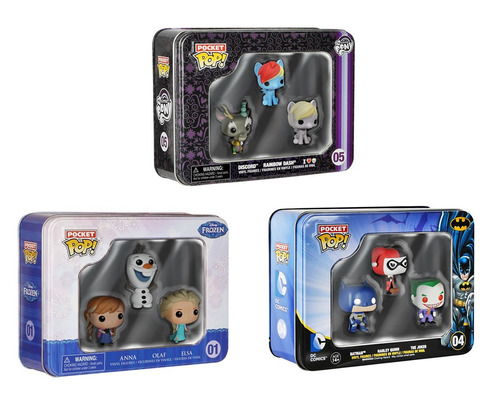 figuras funko my little pony pocket pop! mini vinyl (3-pack)