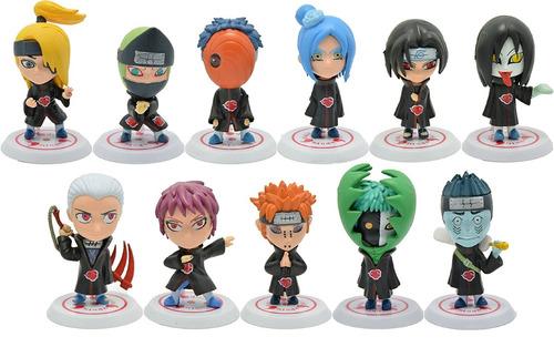 figuras gashapones naruto akatsuki set 11 personajes (6cms)