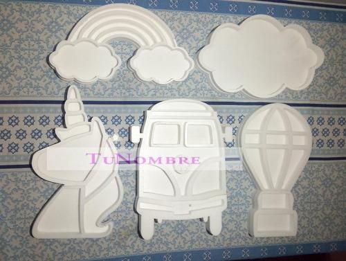 figuras huecas 30 cm polyfan letras personalizadas
