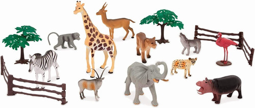 figuras juego de animales en miniatura jungla 6 unidades