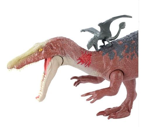 figuras jurassic world battle damage ultimate baryonyx