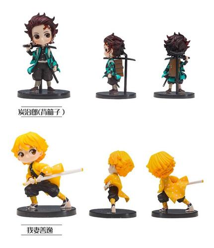figuras kimetsu no yaiba colección 6 unidades