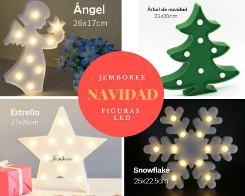 figuras lámparas led - navidad