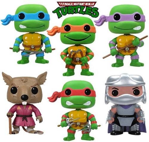 figuras las tortugas ninja funko pop pequeñas set de 6