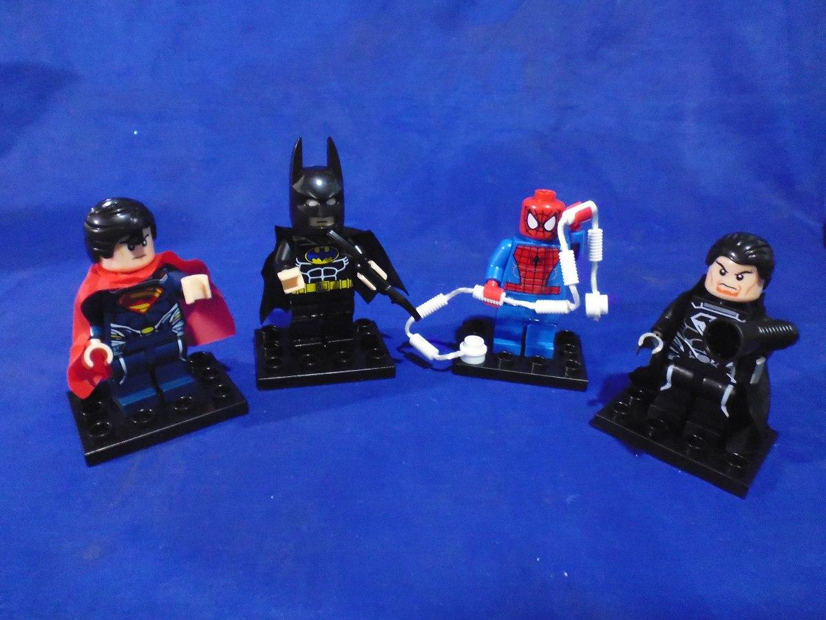 Figuras lego grandes batman hulk ironman spiderman - Spiderman batman lego ...