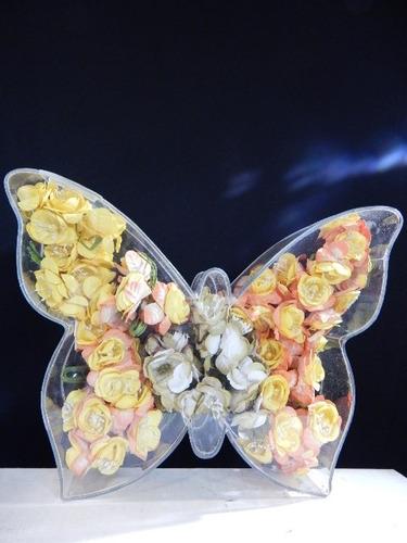 figuras mariposa rellenable acrilico