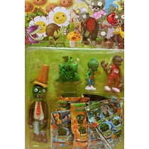 Plantas Vs Zombies Set De Muñecos!!!