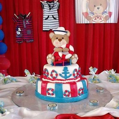 figuras muñecos oso marinero topper para tortas