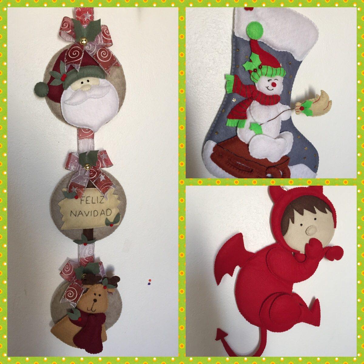 Figuras navide as en fieltro en mercado libre - Figuras navidenas para decorar ...