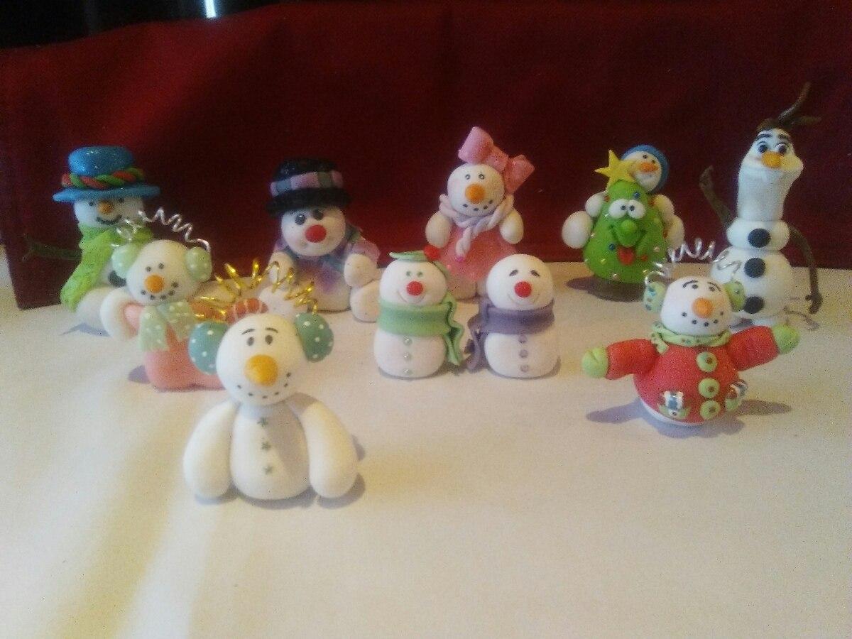 Figuras navide as porcelana fria en mercado libre for Villas navidenas de porcelana