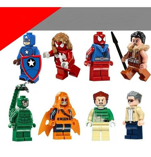 figuras para armar compatible  c/lego - puente de spider-man