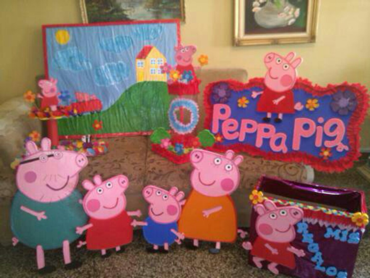 Figuras para decoracion peppa pig bs 350 00 en mercado for Figuras de decoracion