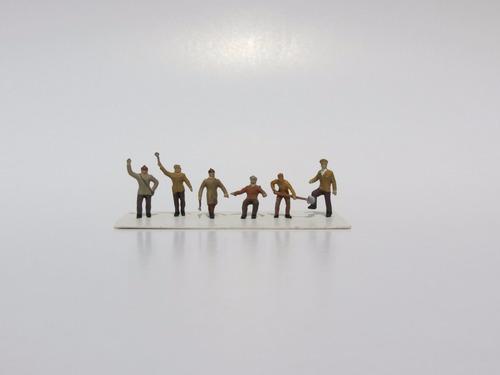 figuras para maquetes ho (1/87) tripulação frerrovia 03-1037