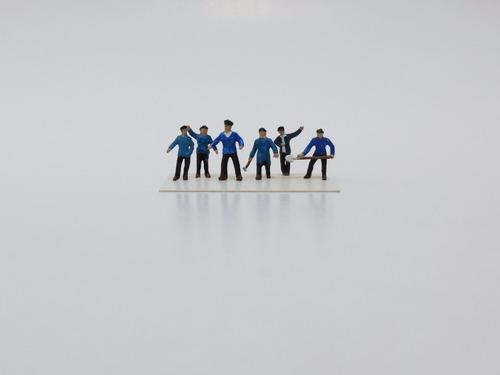 figuras para maquetes ho (1/87) tripulação frerrovia 03-1040