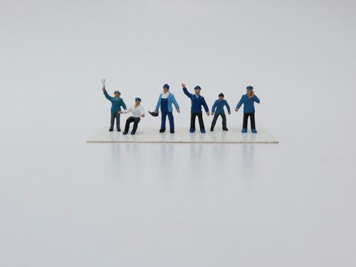 figuras para maquetes ho (1/87) tripulação frerrovia 03-1041