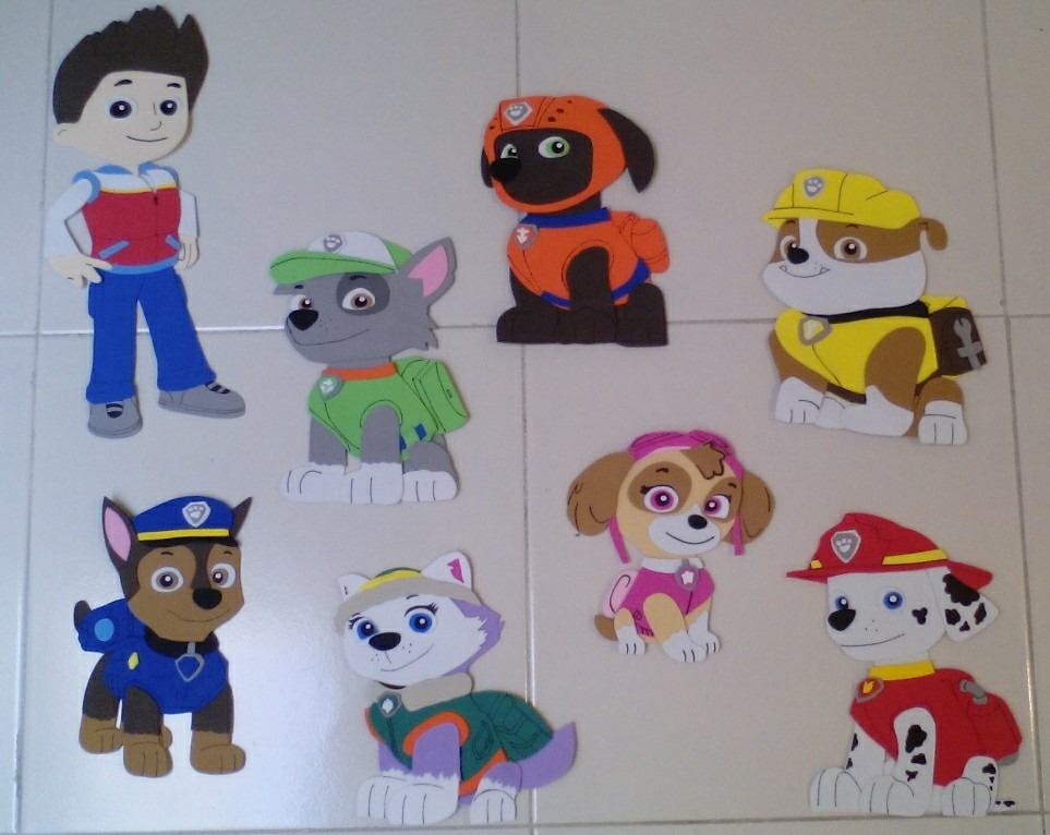 Figuras paw patrol fomi mesa dulces patrulla cachorros - Manualidades patrulla canina ...