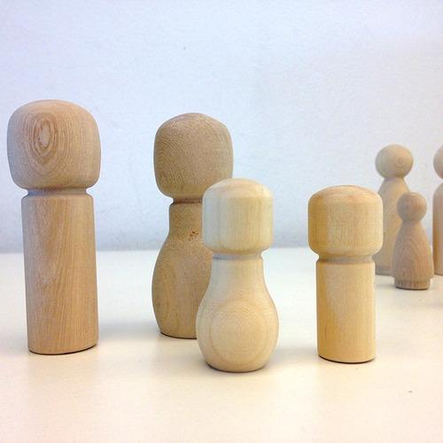 figuras people peg dolls muñeco madera pintar + modelos