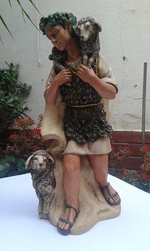 figuras pintadas en yeso de pesebre gigante artesanalmente