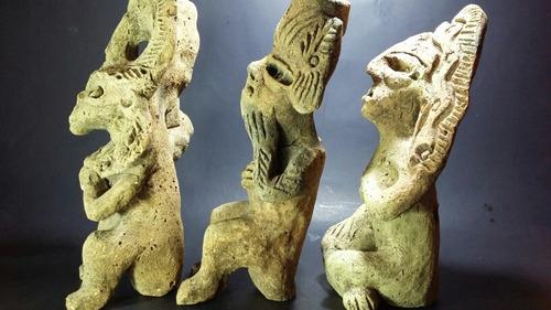 figuras prehispanicas decorativas (3 pz replicas)
