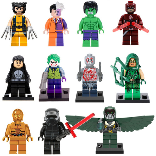 figuras tipo lego marvel star wars dc batman avengers 2x5