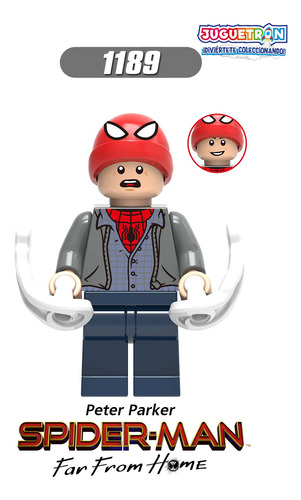 figuras tipo lego spiderman lejos de casa marvel avengers