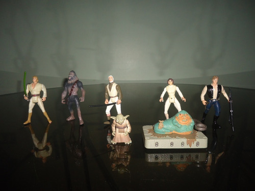 figuras y naves espaciales de star wars