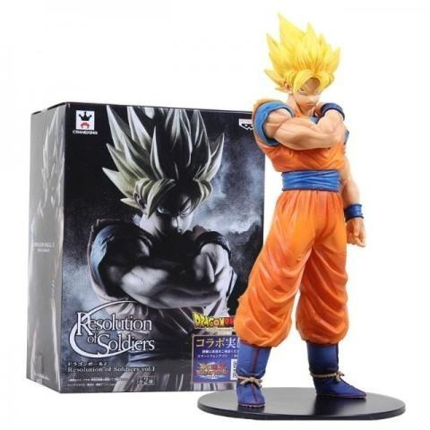 figure action dragon ball boneco goku resolution of soldiers