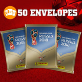 50 Envelopes De Figurinhas Copa Do Mundo 2018 Panini Lacrado