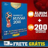 Álbum Capa Dura Copa Do Mundo 2018 + 200 Figurinhas S/repeti