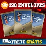 Kit Com 120 Envelopes Figurinhas Copa Do Mundo Rússia 2018