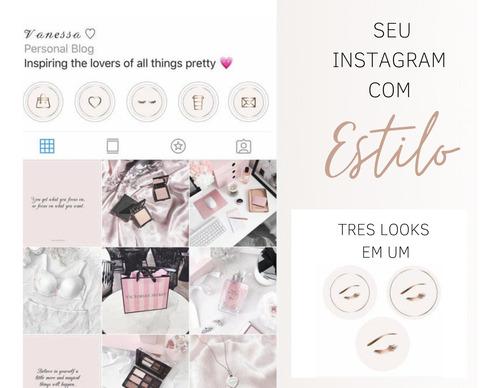 figurinhas rose gold para instagram