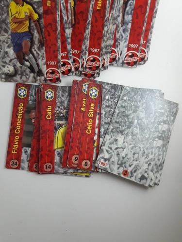 figurinhas/cards - coca cola- selecção brasileira 97- panini