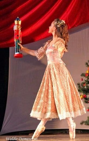 52a0d40b95 Figurino Ballet Clara Quebra Nozes Vestido Fantasia Rosa