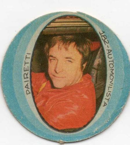 figurita automovilista fulbito año 1974 pairetti num 182