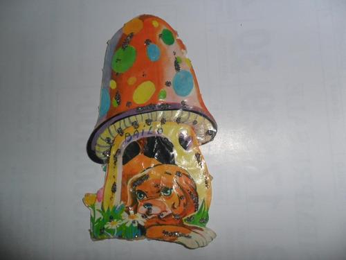 figurita brillantina figu cenicienta el honguito perrito