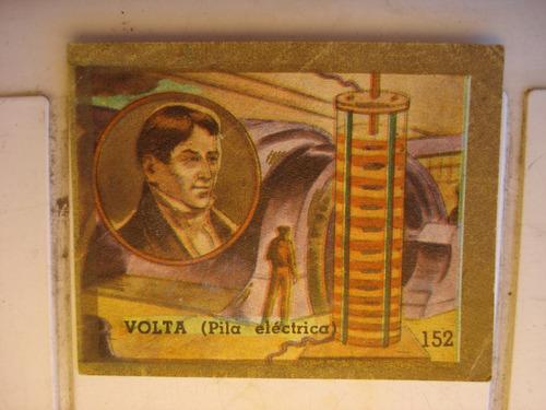 figurita del album tapita 1965 - n.152 volta (pila electrica