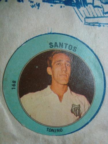 figurita futbol album golazo 1965 santos tonino 168