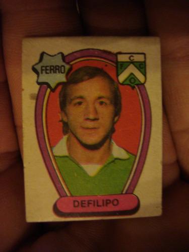 figurita futbol album golazo 1973 ferro defilipo