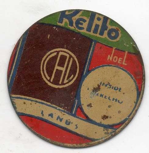 figurita futbol kelito año 1930 de chapa lanus inside derech