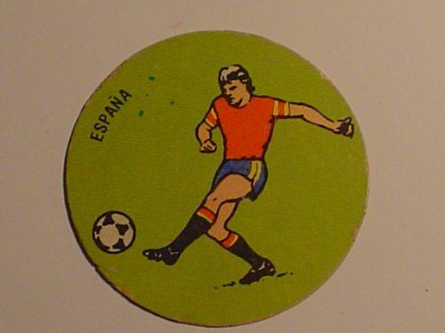 figurita redonda españa jugador de futbol seleccion