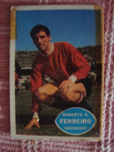figurita tarjet futbol album golazo 1965 ferreiro indep 31