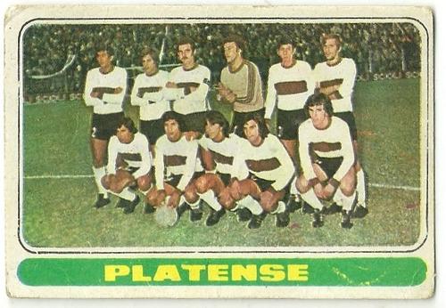 figurita tarjeton fulbito 1974 - equipo de platense -