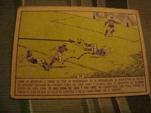 figurita tarjetón futbol album campeón 1966 boca rojas