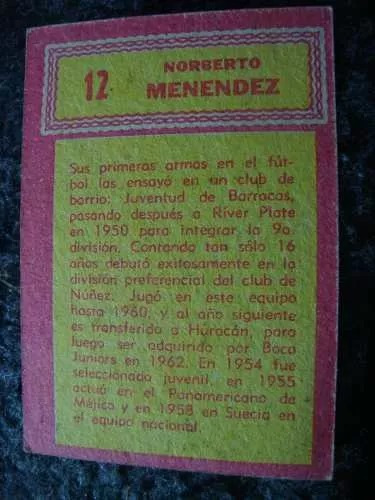 figurita tarjeton futbol album golazo 65 menendez boca 12
