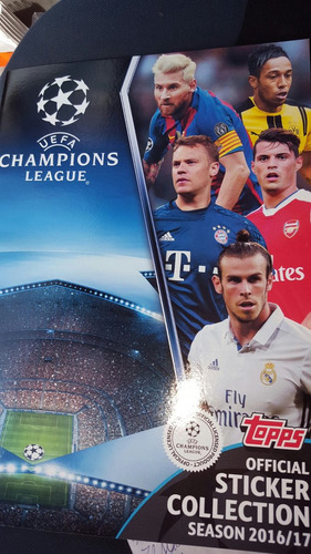 figuritas champion league 2016/ 2017  topps pack x 25