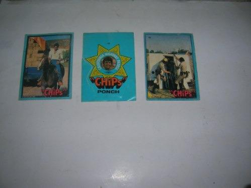 figuritas  chips 1979 m.g.m. california highway patrol ponch