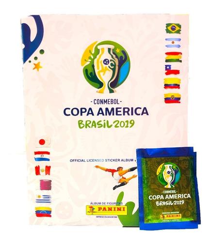 figuritas copa america brasil 2019 -25 sobres la golosineria