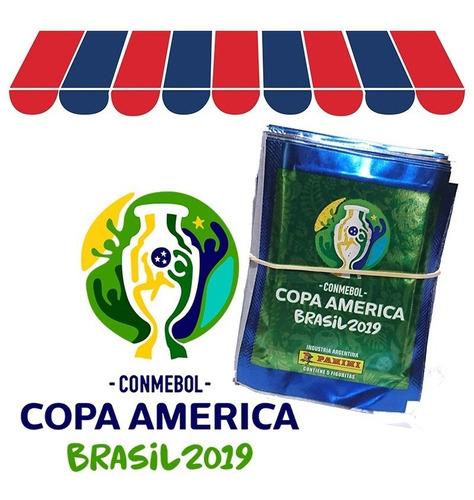 figuritas copa américa brasil 2019 panini pack x 50 sobres